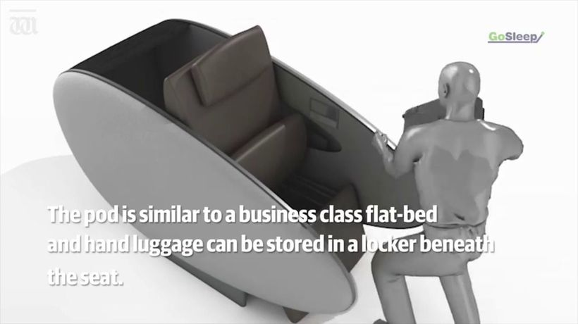 Perth Airport install sleeping pods for tired travellers