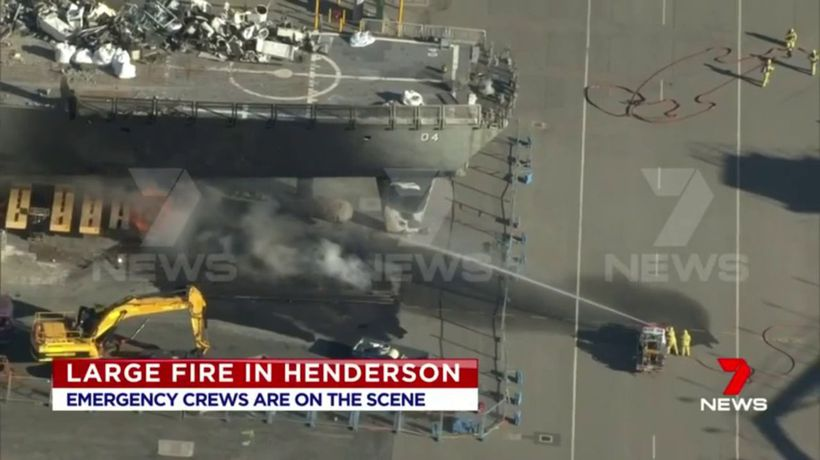 Emergency service turn out to blaze in Henderson