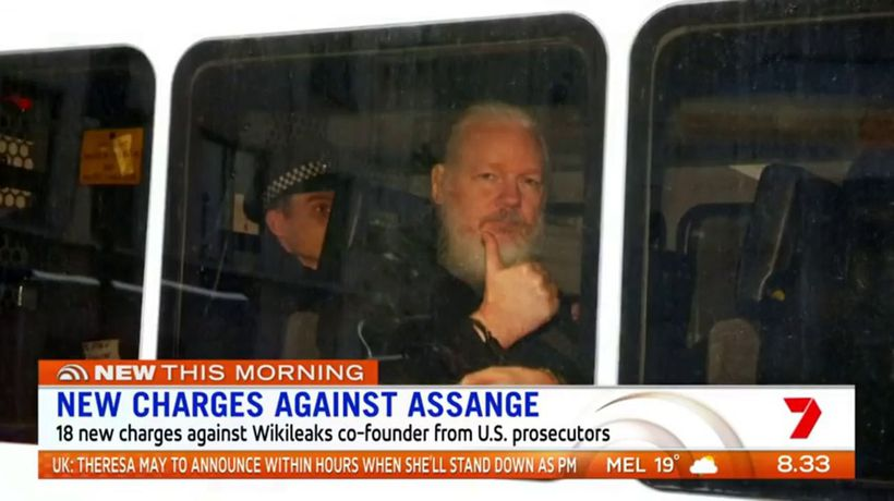 New charges laid against Assange