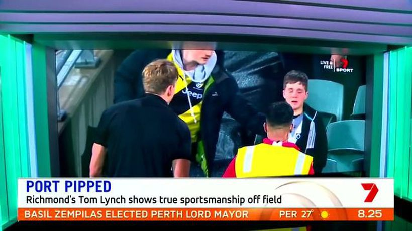 Tom Lynch's touching act for emotional young Port fan