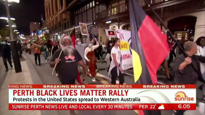 Perth Black Lives Matter rally