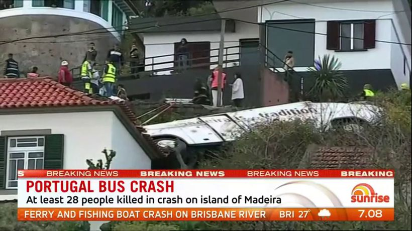 28 dead after tourist bus crashes in Portugal