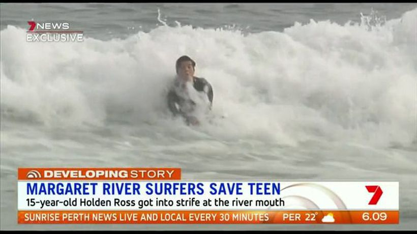 Surfers save teen from drowning in Perth's South West