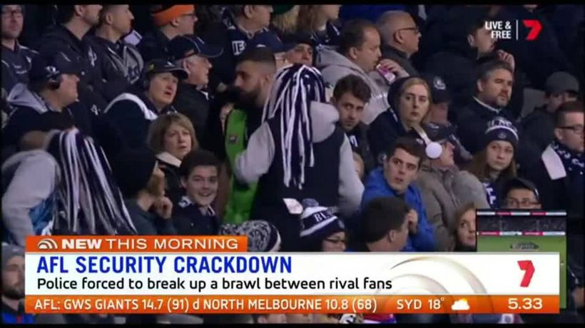 Fans not happy with crackdown at AFL matches
