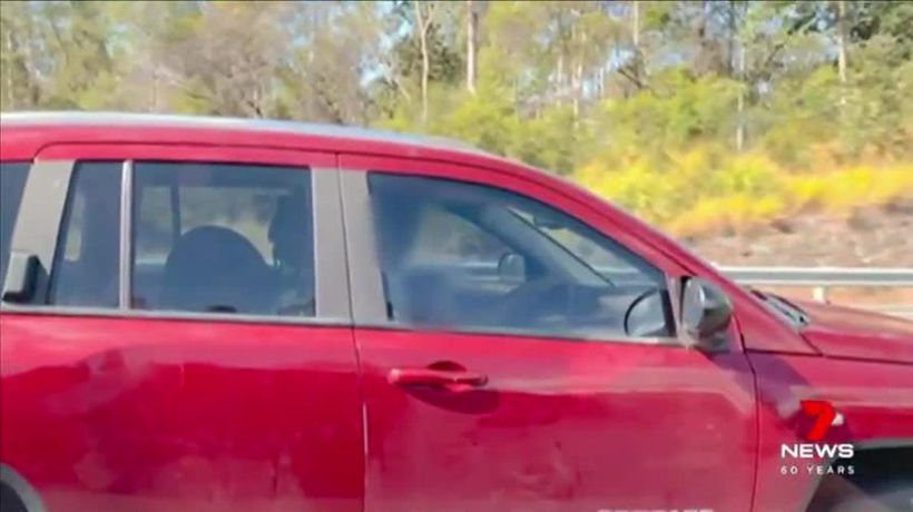 Man caught driving on M1 with child on his lap