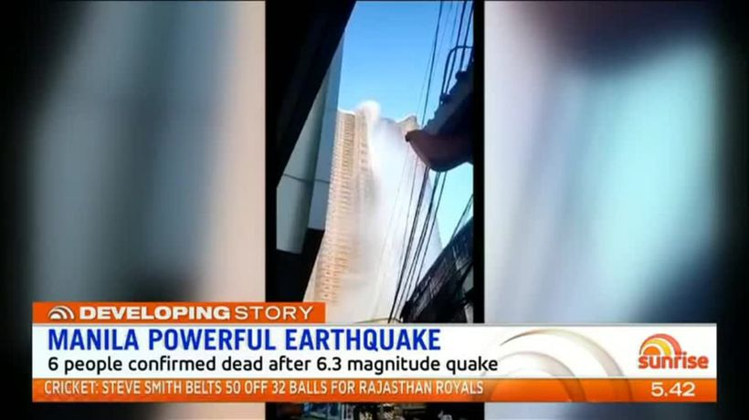 Six dead as strong Earthquake shakes Philippines