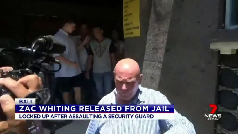 Zac Whiting released from Bali jail