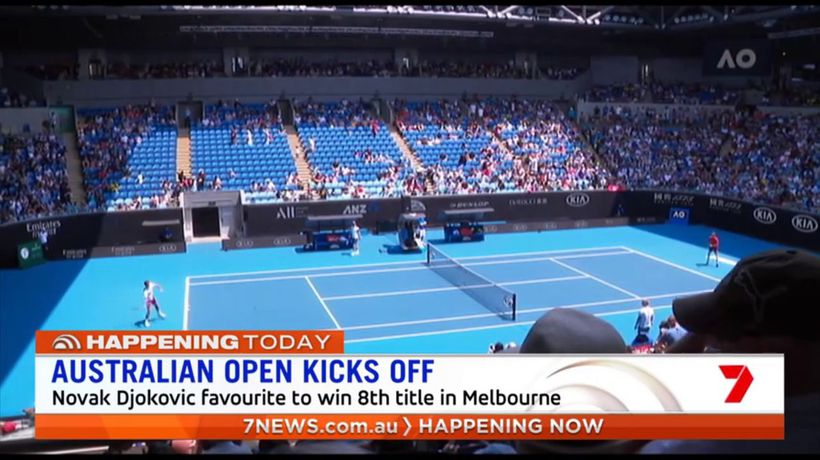 Australian Open begins in Melbourne