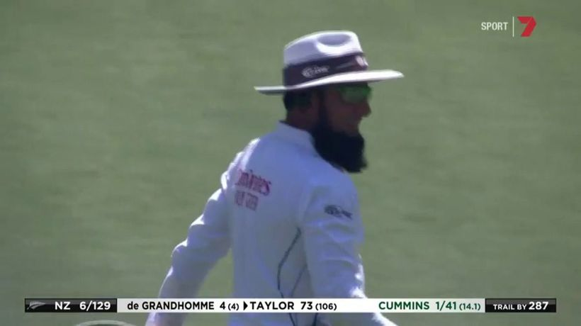 Umpire's handy cap catch