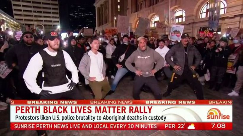 Peaceful Perth Black Lives Matter rally