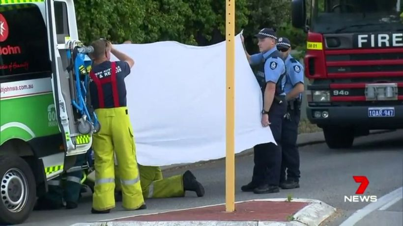 Police and emergency services at Paul Whyte's home