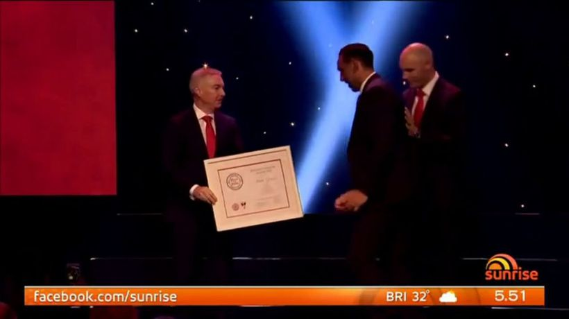Adam Goodes joins the Sydney Swans Hall of Fame