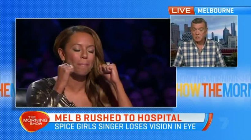 Mel B rushed to hospital after losing vision