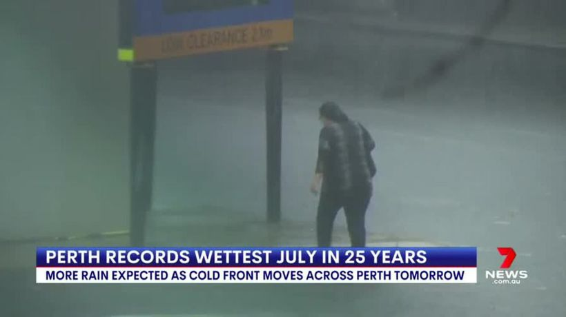 Perth records wettest July in 25 years
