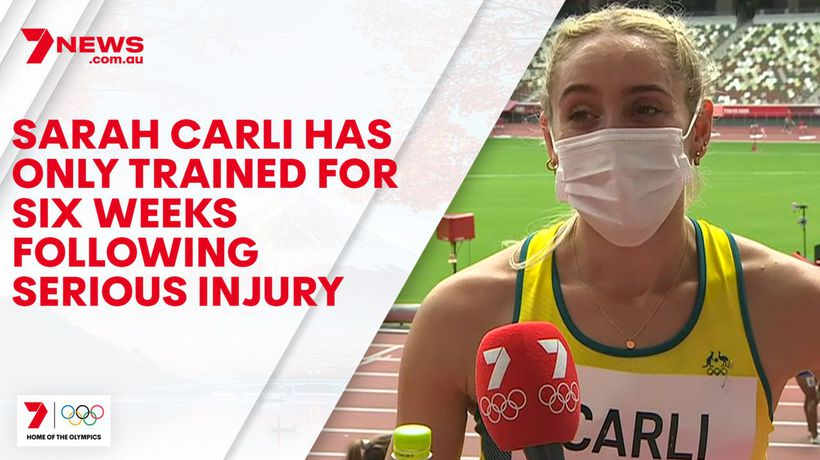Sarah Carli has only trained for six weeks following serious injury
