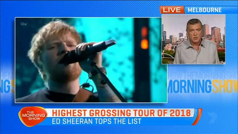 Ed Sheeran smashes 30 year record for most money made in a year