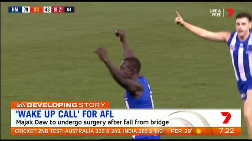 AFL legend says Majak Daw incident 'wake up call' for AFL