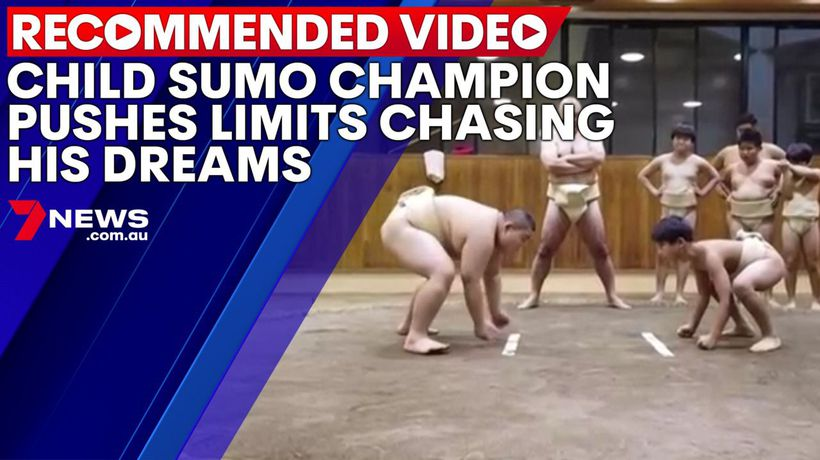 Child sumo champion pushes limits chasing his dreams