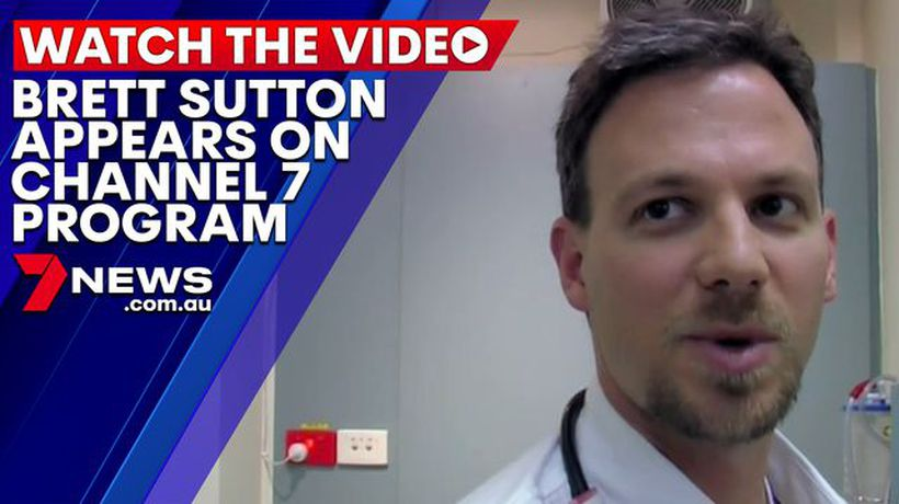 Chief Health Officer Brett Sutton appears in Channel 7's program Medical Emergency