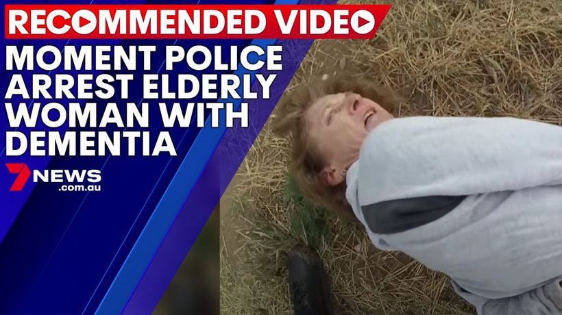 Moment police arrest elderly woman with dementia
