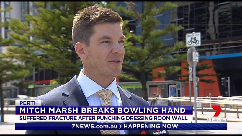Marsh fractures bowling hand