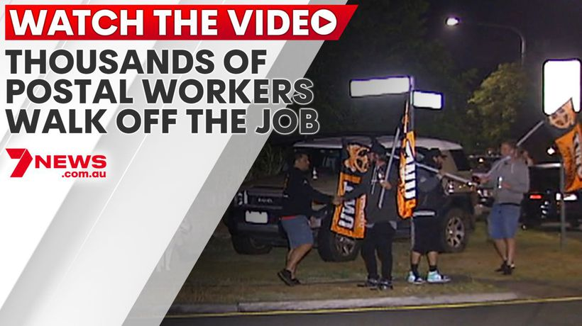 Thousands of postal workers walk off the job