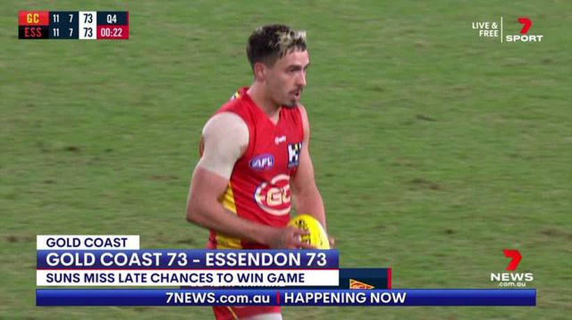 Gold Coast and Essendon play out thrilling draw