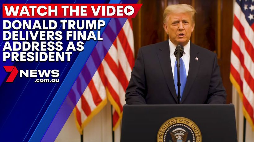 Donald Trump delivers final address as President