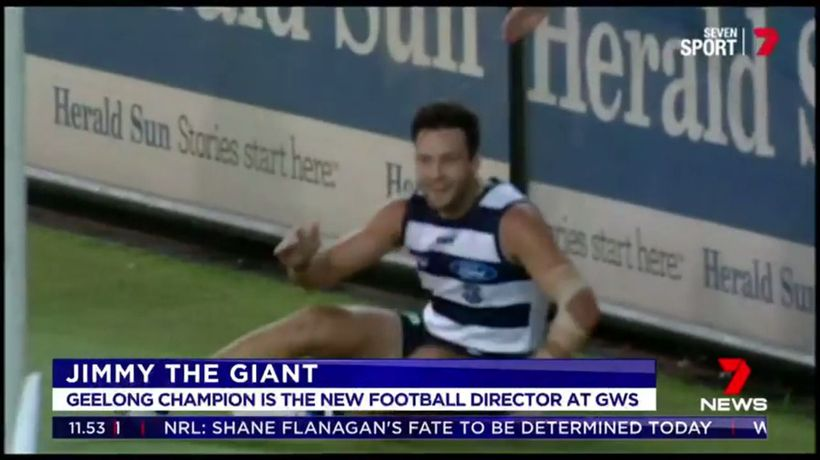 Jimmy Bartel joins GWS Giants board