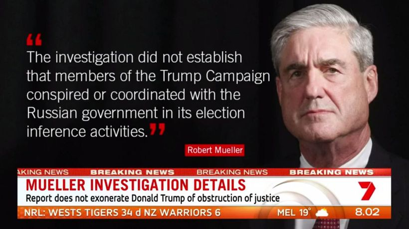 Mueller report finds no collusion with Russia