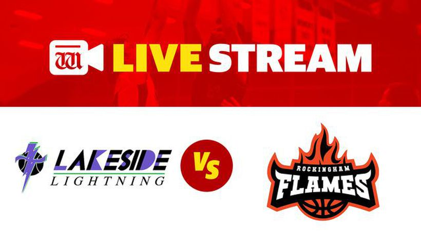 West Coast Classic men's basketball Live - Rockingham Flames v Lakeside Lightning men