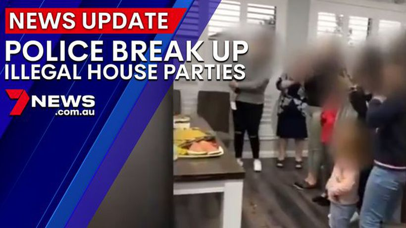 Police break up illegal house parties
