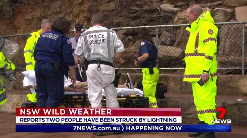 Two people struck by lightning in Katoomba