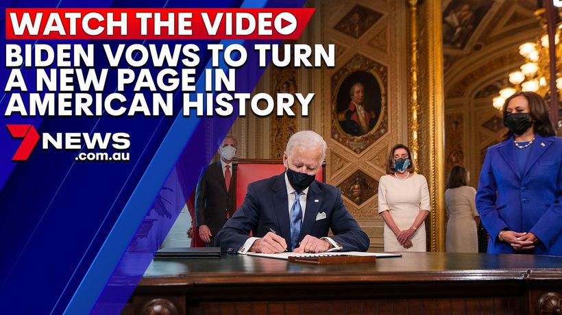 Joe Biden vows to turn a new page in American history