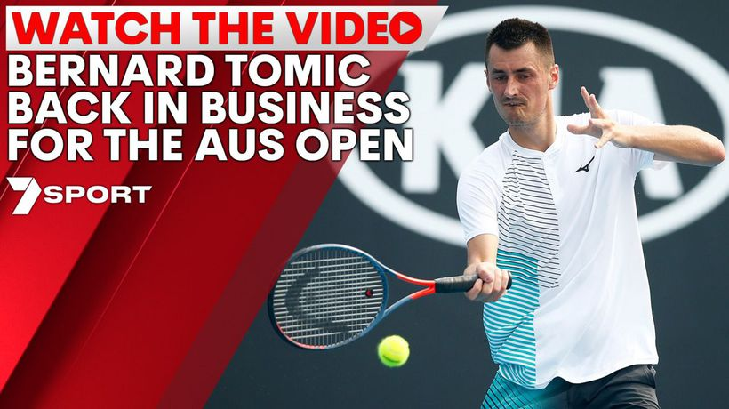 Bernard Tomic back in business for the Aus Open