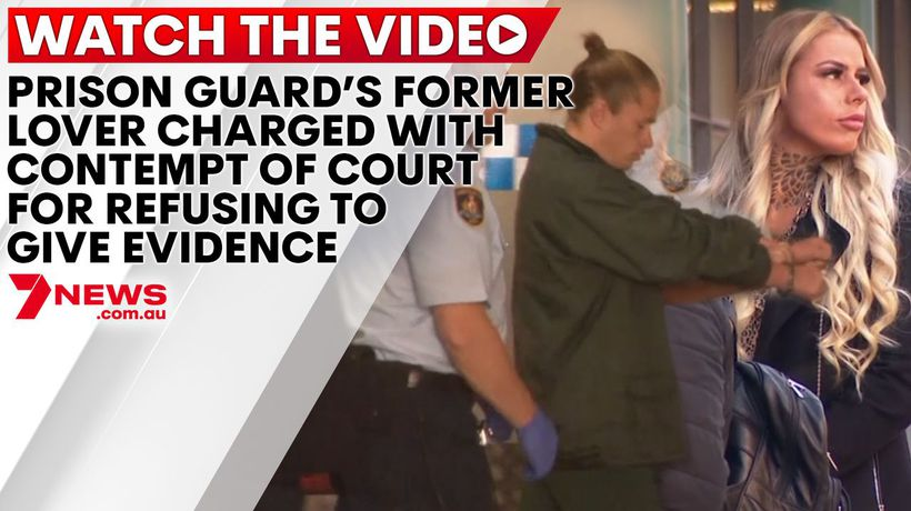 Prison guard's former love charged with contempt of court for refusing to give evidence