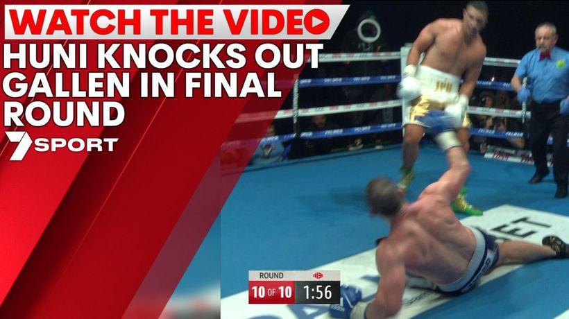 Huni knocks out Gallen in final round