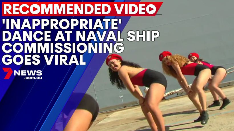 'Inappropriate' dance at Naval ship commissioning goes viral