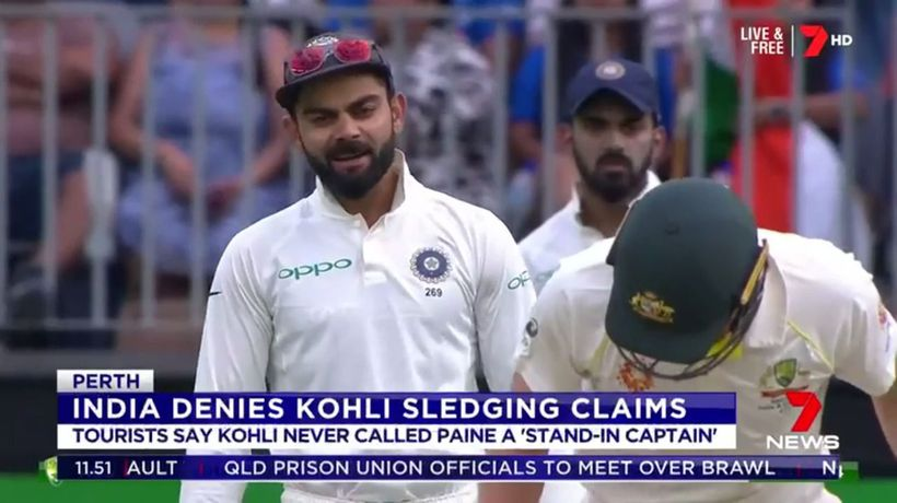 India denies Kohli sledging claims