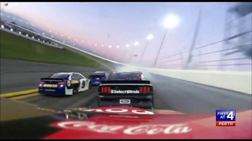 Daytona 500 comes to a screeching stop