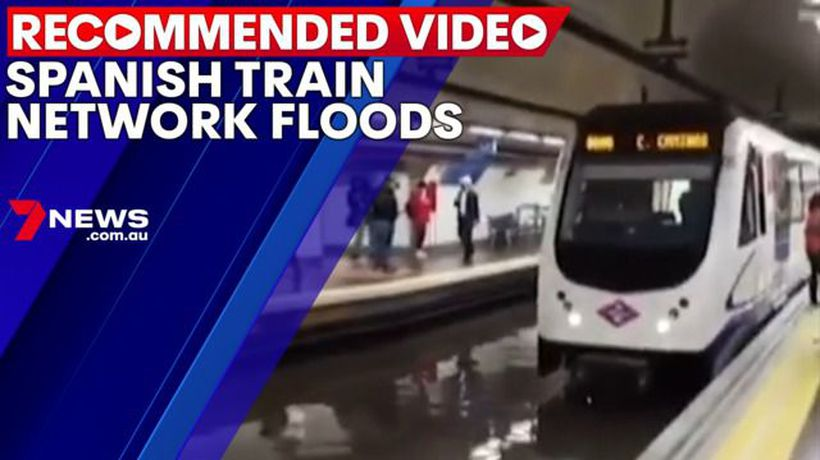 Several train stations flood in Spain