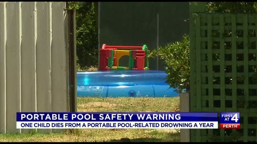 Portable pool safety warning