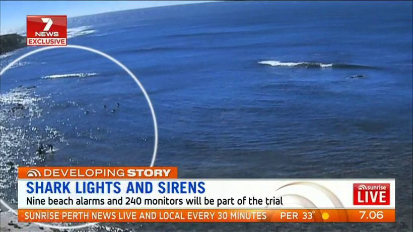 Alarms to warn of shark danger at South West beaches