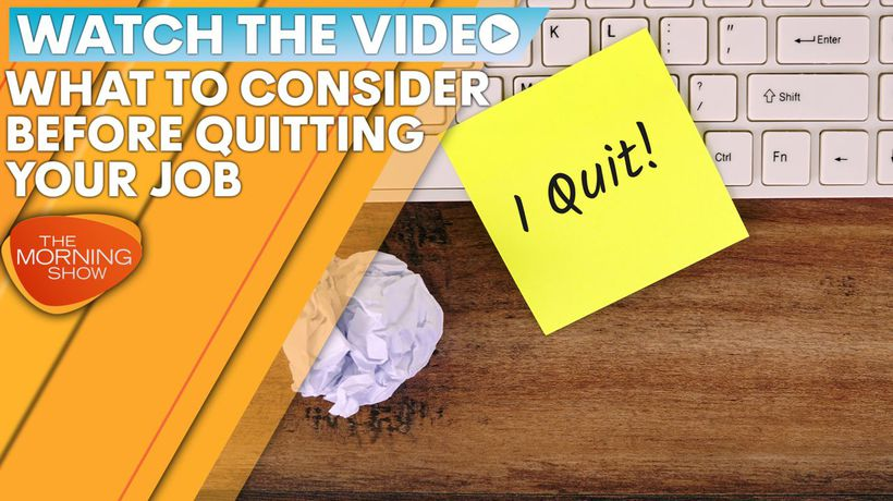 The best way to quit your job