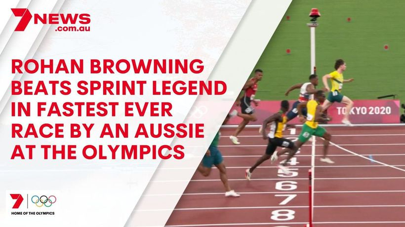 Rohan Browning completes the FASTEST EVER run from an Australian sprinter at an Olympic Games
