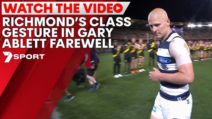 Richmond's class gesture in Gary Ablett Jr. farewell