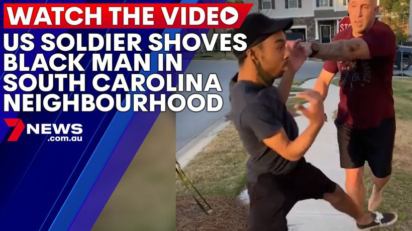 US soldier threatens, shoves and yells at black man in South Carolina neighbourhood