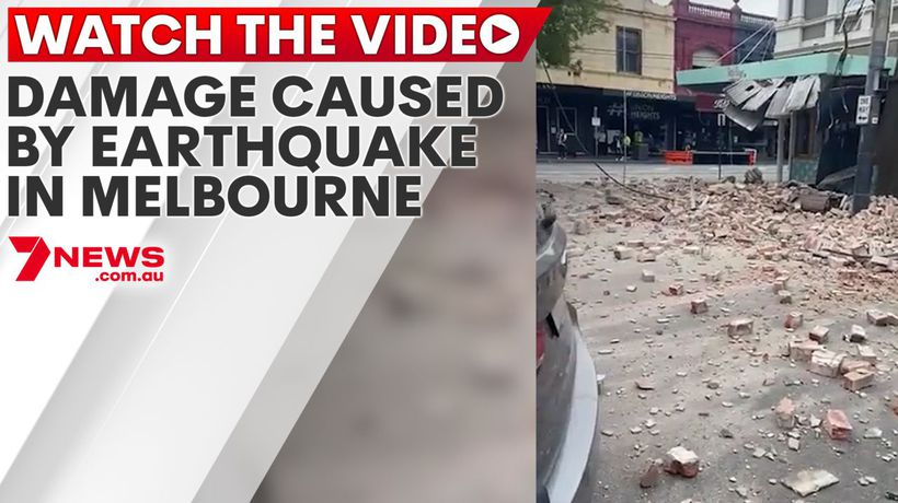 Damage caused by earthquake in Melbourne