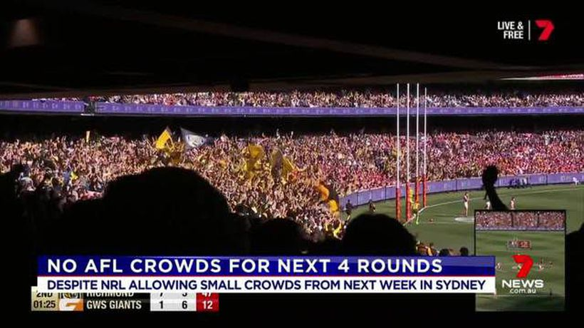 No crowds at AFL games for the next four rounds