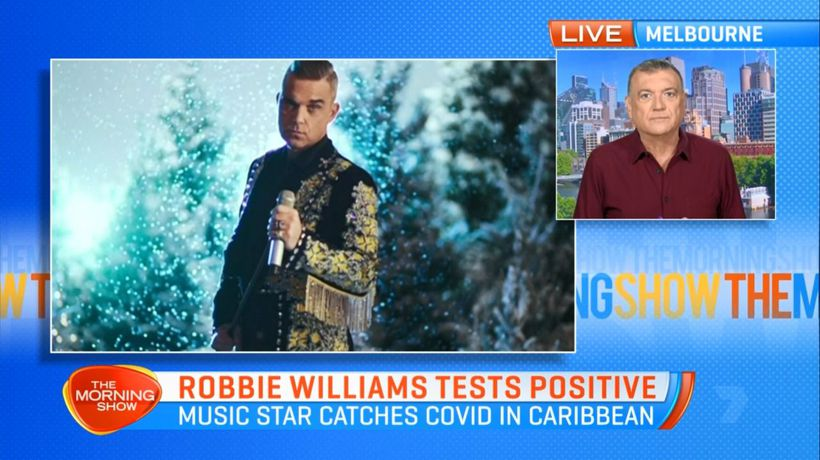Robbie Williams tests positive for COVID-19